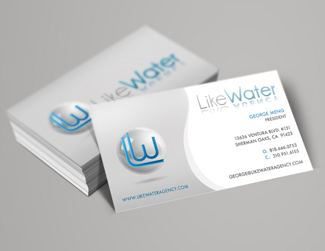 Printing and design gallery theminddesigns like water business cards colourmoves